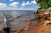 Svenska sommaren sjön — Stockfoto