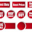 Stock Photo: Red Labels
