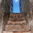 Stock Photo: Old stairs with beuty sky on top