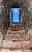 Old stairs with beuty sky on the top — Stock Photo