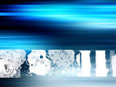 Blå design — Stockfoto