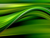Green and yellow waves — Stock fotografie