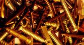 金色螺钉 — 图库照片