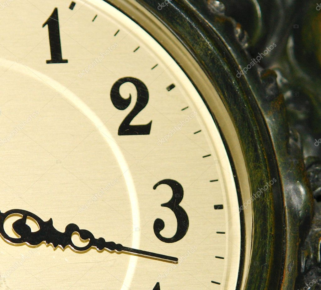 Old clock time with light effects, photo image — Stock Photo #5753458