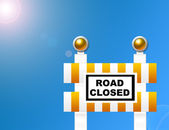 Road closed sign — Stock Photo