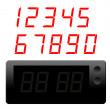 Clock and numbers — Stock Photo