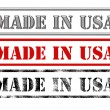 Made in usa signs — Stock Photo