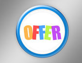 Offer button — Stock Photo