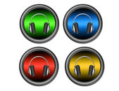 Headphones buttons — Stock Photo