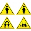 Yellow sign - Stock Photo