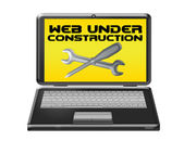 Web under construction computer — Stock Photo