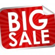 Stock Photo: Big sale label