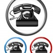 Telephone buttons — Stock Photo