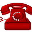 Stock Photo: Red telephone