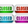 Closed door sign — Stock Photo