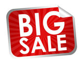 Big sale label — Stock Photo