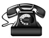Old black telephone — Stock Photo