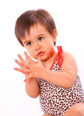Baby girl clapping — Stock Photo