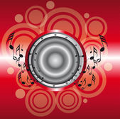 Red musical background — Stock Vector