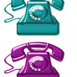 Old telephones — Stock Photo