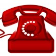 Red old telephone — Stock Photo #6291056
