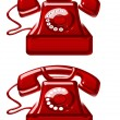 Stock Photo: Red old telephones