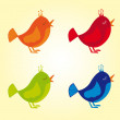 colorful birds — Stock Vector