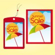 Summer sale labels — Vector de stock