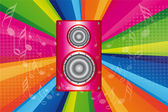 Pink stereo — Stock Vector