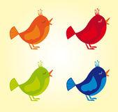 Colorful birds — Stock Vector