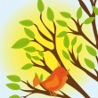 Royalty-Free Stock Vector Image: Cute tree and bird