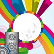 Colorful speakers — Stock Vector