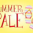 Stok Vektör: Summer sale