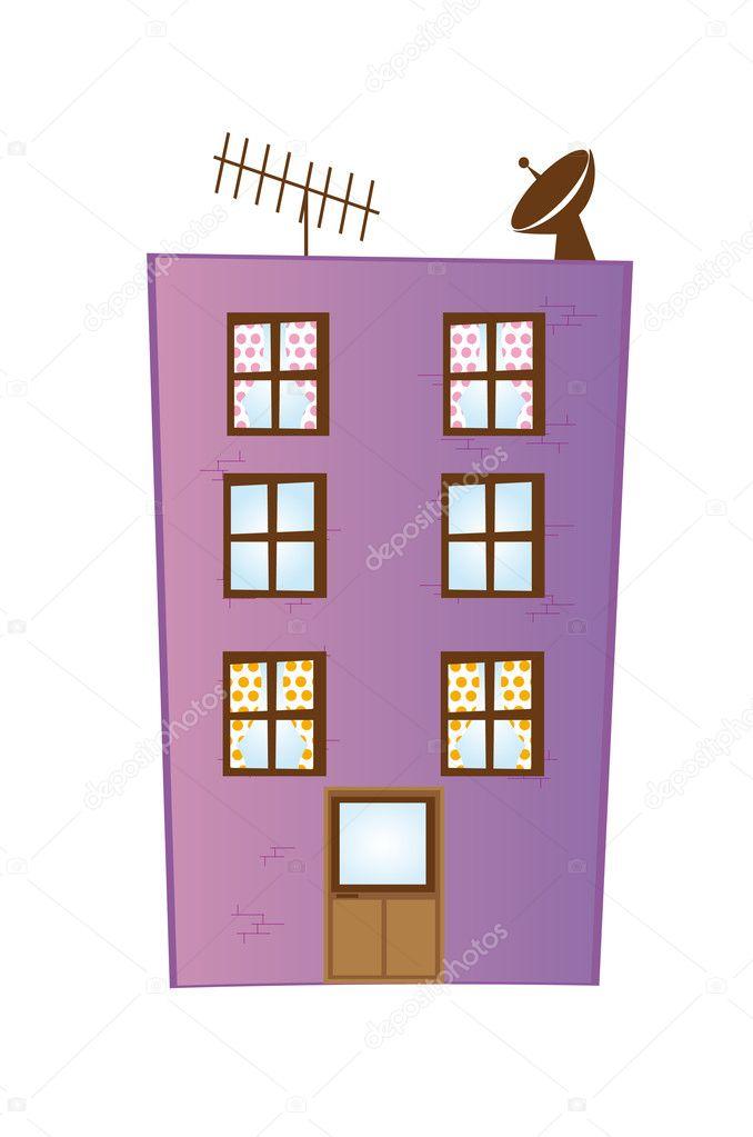 Edificio de dibujos animados — Vector de stock © yupiramos ...
