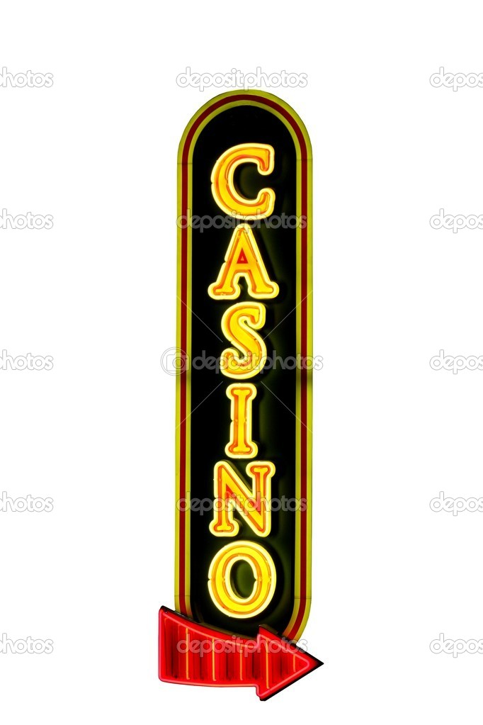 Casino 5$ sign on bills gambling hall lasvegas