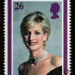 Princess Diana Postage Stamp - Stock Photo
