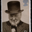 Winston Churchill Postage Stamp — Stock Photo