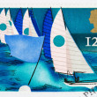 British Sailing Postage Stamp — Stock Photo