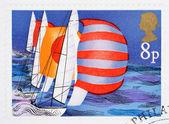 Francobollo britannico vela — Foto Stock