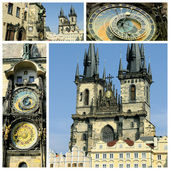 View of Old Town Square Prague city — Stock Photo