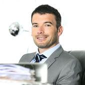 Cheerful businessman — Stock Photo