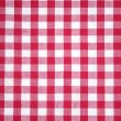 Stock Photo: Red checkered tablecloth