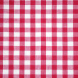 Royalty-Free Stock Photo: Red checkered tablecloth
