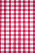 Red checkered tablecloth — Stock Photo