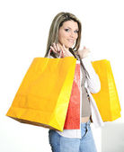 Shopping woman — Foto Stock