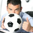 Stock Photo: Soccer passion
