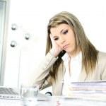 zajęty kobieta — Zdjęcie stockowe