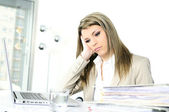 Busy woman — Stock Photo