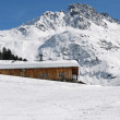 Chalet of mountain in winter — Stock Photo