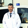 Doctor ans ambulance — Stock Photo